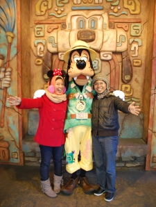 Me and HUbby with Goofy